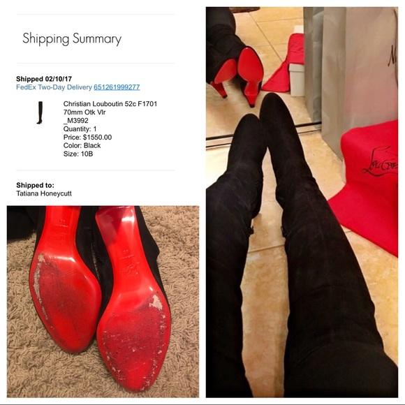 8212fff552ff Christian Louboutin Shoes - Christian Louboutin knee high boots